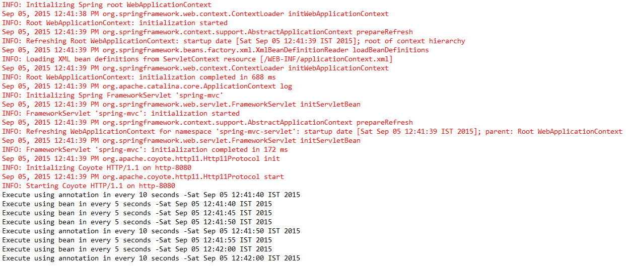 Execute Batch Job Automatically in Spring MVC