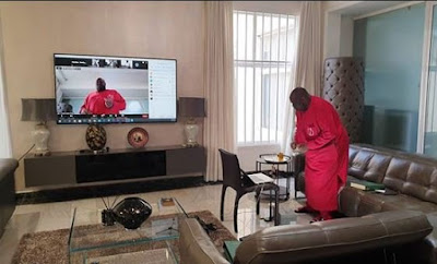 photo of dele momodu virtual 60th birthday party
