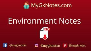 UPTET Environment Notes pdf in Hindi