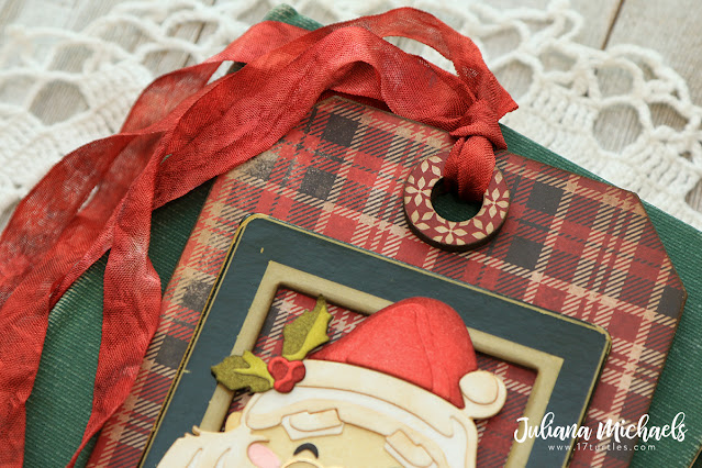 Santa Tag by Juliana Michaels featuring Tim Holtz Sizzix Santa's Wish Colorize Thinlits