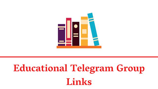 【BEST】Educational Telegram Group Links