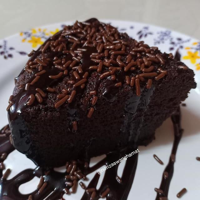kek milo yang moist dan gebu