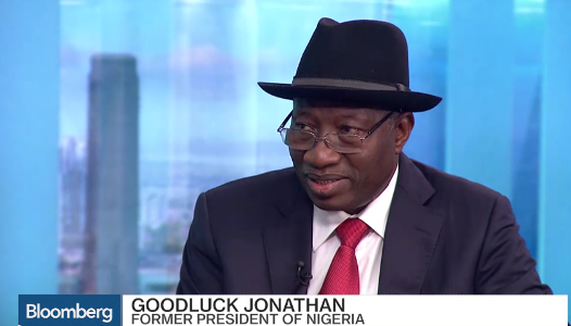 former Nigerian president goodluck jonathan admits on a tv show that he is being investigated for corruption by Nigeria government