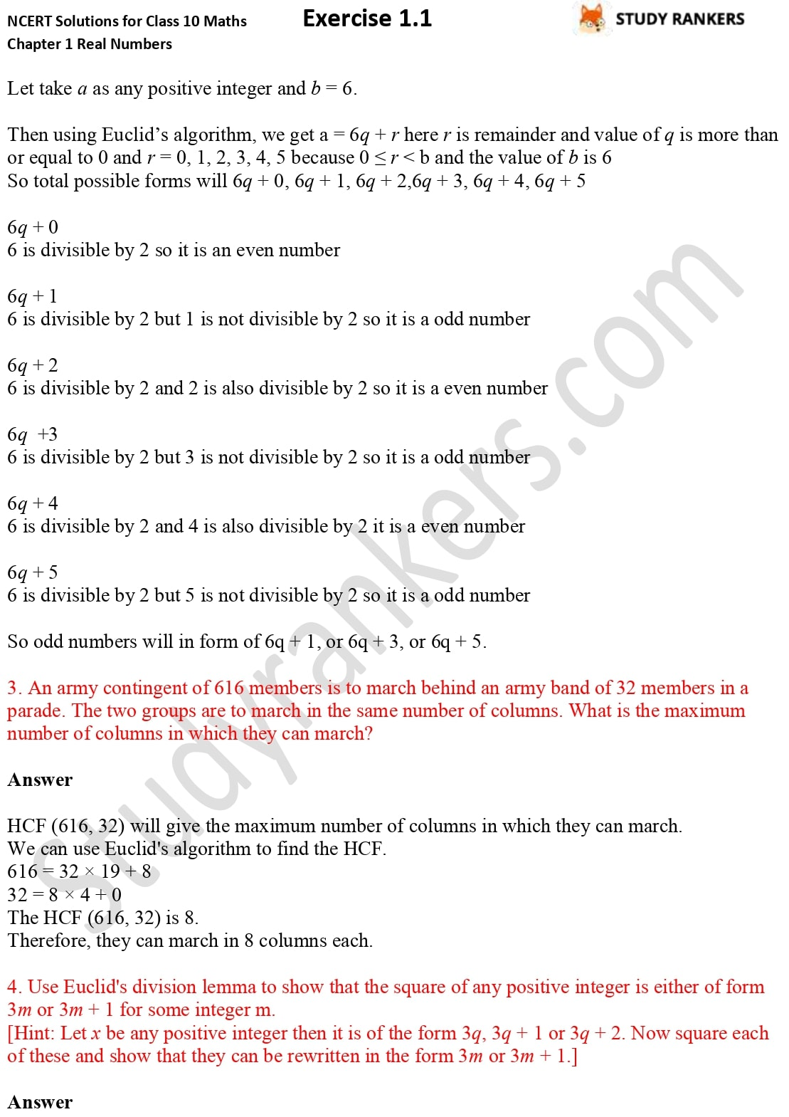 NCERT Solutions for Class 10 Maths Chapter 1 Real Numbers Exercise 1.1 2