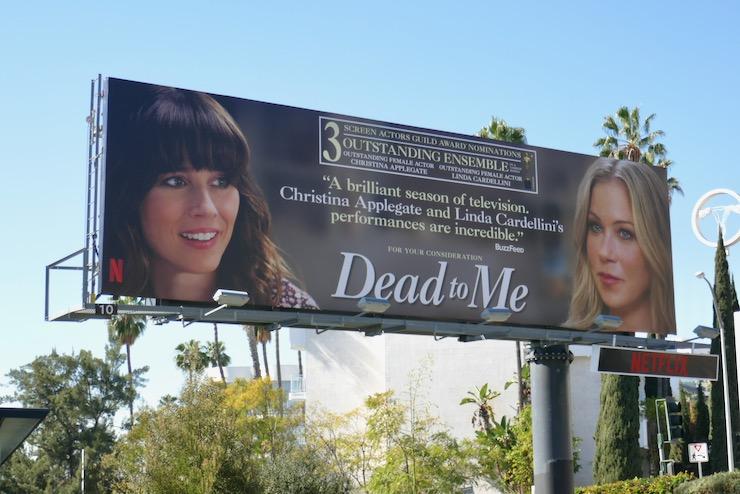 Dead To Me season 2 SAG nominee billboard