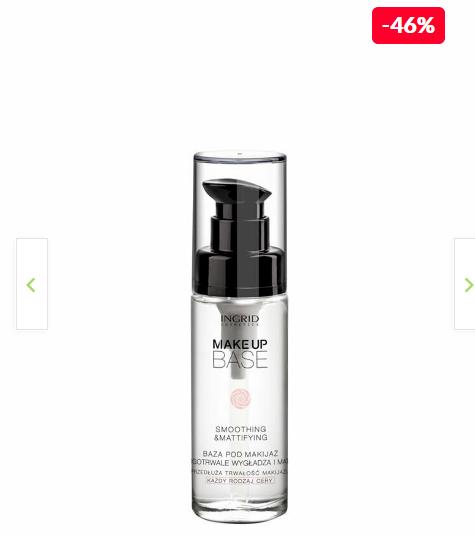 INGRID Cosmetics Baza de machiaj profesionala cu efect de netezire si matifiere, Ingrid Cosmetics, Transparent, 30 ml