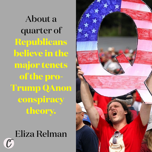 About a quarter of Republicans believe in the major tenets of the pro-Trump QAnon conspiracy theory. — Eliza Relman, Business Insider Senior Politics Reporter