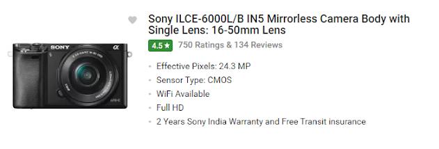 TOP 5: Best Entry-Level Mirrorless Camera 2020 under 50000.
