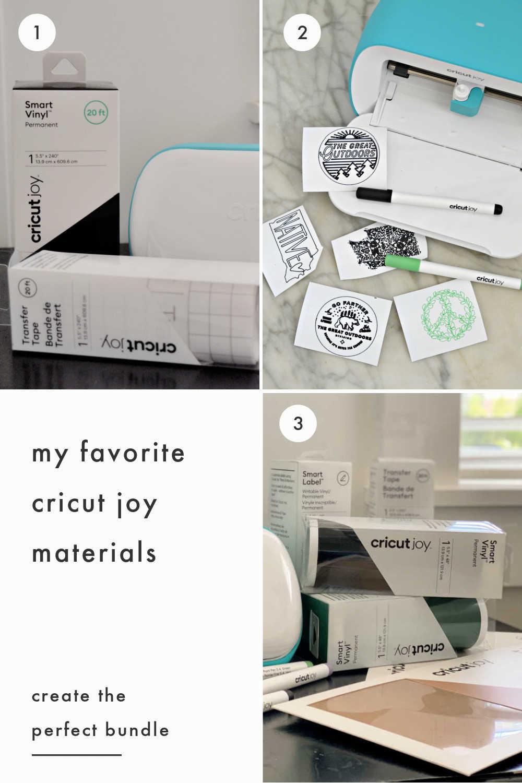 Cricut Joy favorite materials for bundle