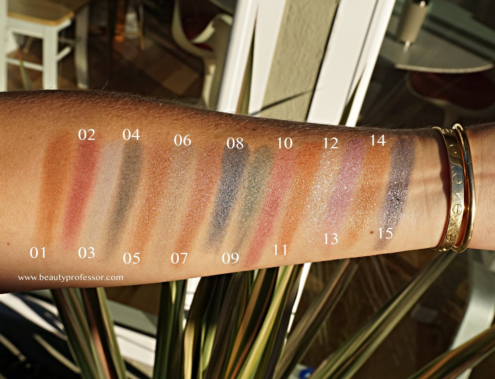 SUQQU Tone Touch Eyes Eyeshadow swatches
