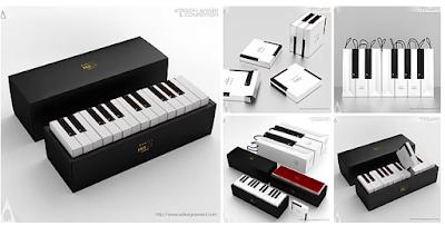 Piyano kek ambalaj tasarımı