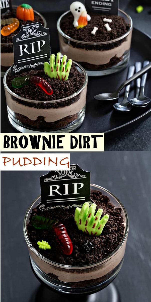BROWNIE DIRT PUDDING #halloweenrecipes