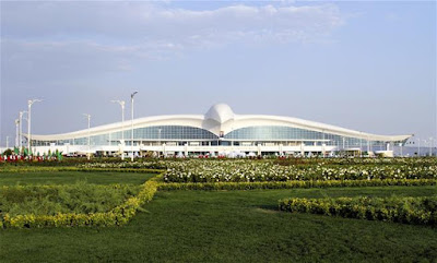 Ashgabat Capital of Turkmenistan We See This New International Airport Looks Like Flying Falcon