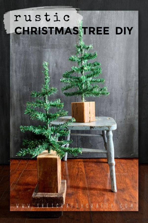 Rustic Christmas Tree DIY