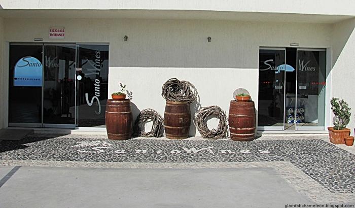 Santo wines Santorini entrance