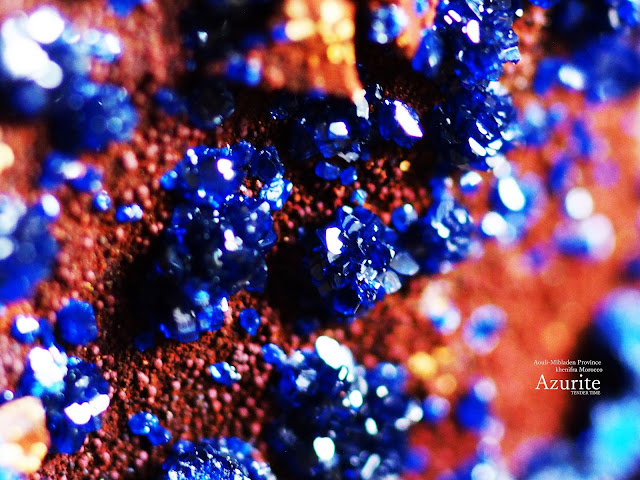 Azurite Aouli-Mibladen Provience Khenifra Morocco