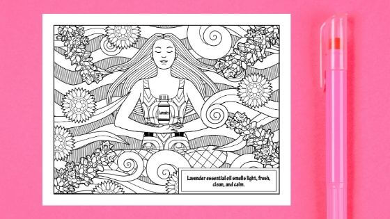Coloring Pages For Adult PDF - Lavender Essential Oil