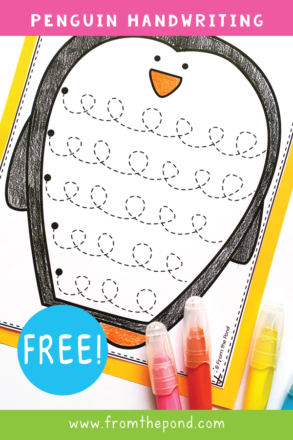 From The Pond: Penguin Pre-writing Worksheet