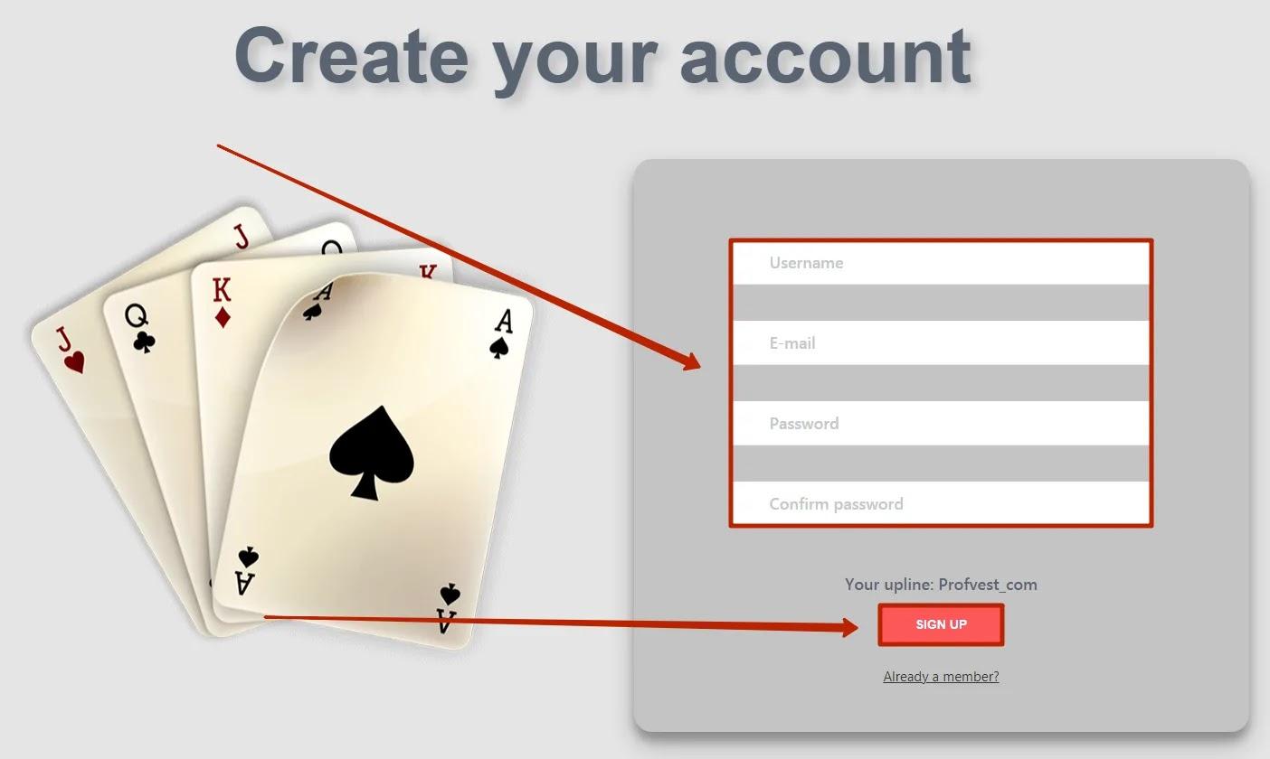 Регистрация в Poker-Bot 2