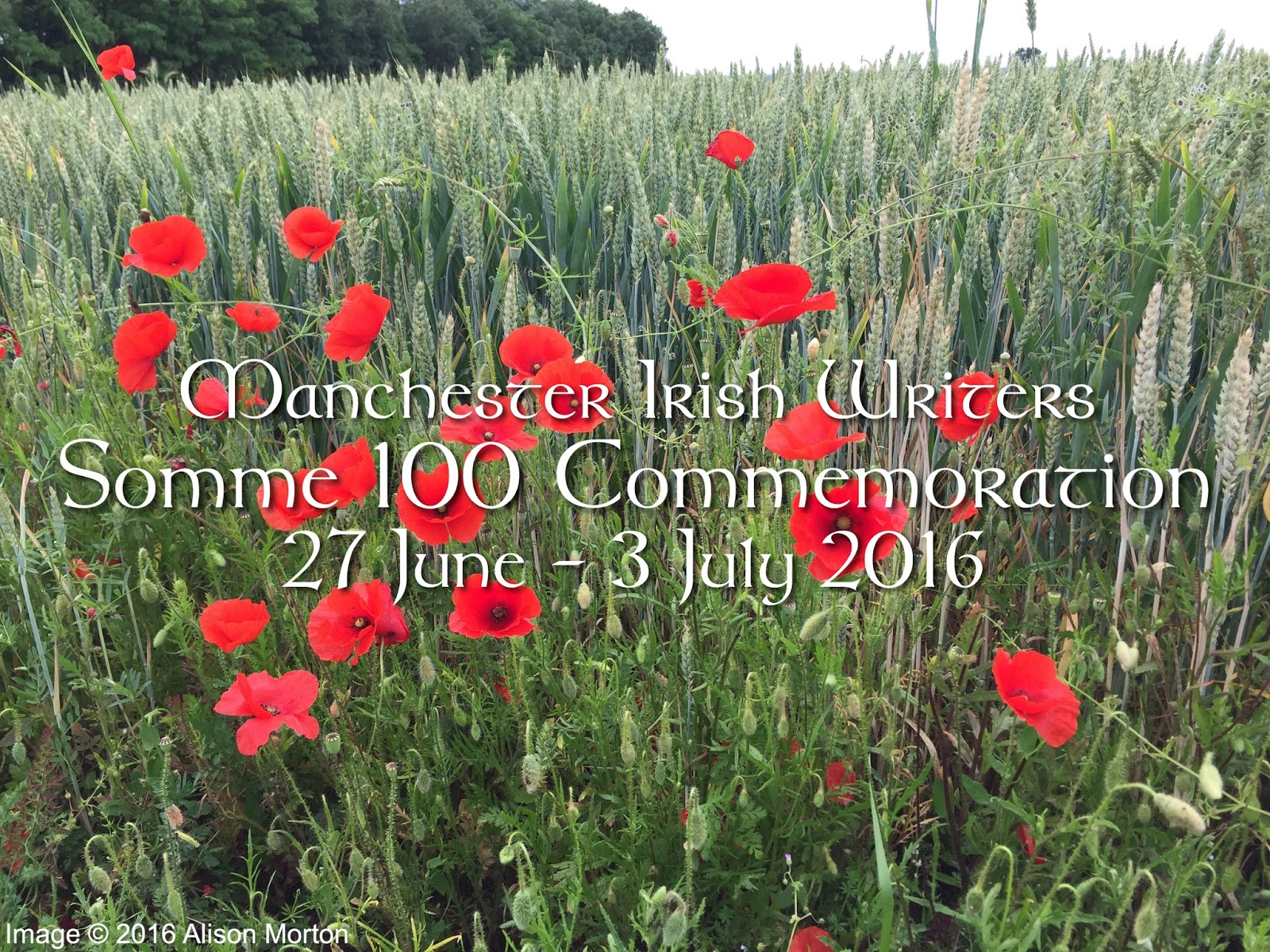 Manchester Irish Writers Testimonies Of Trauma The Somme And Other