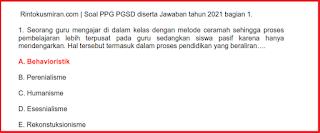 SOAL  PEDAGOGIK PPG PGSD DISERTAI JAWABAN  TAHUN 2021 BAGIAN 1