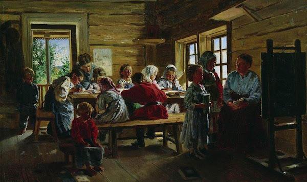 Маковский Владимир Егорович - В сельской школе. 1883