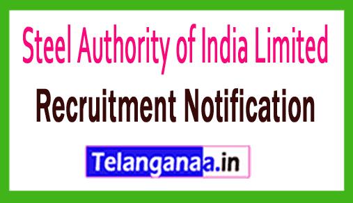 Steel Authority of India SAIL Recruitment Notification