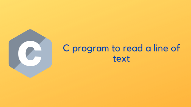 C program to read a line of text