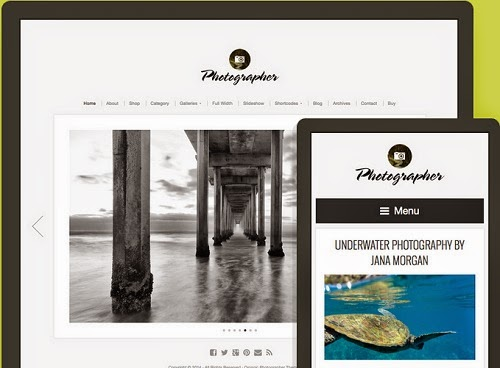 photographer tema wordpress para vendas de fotos