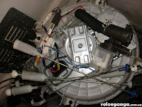bahagian bawah mesin basuh
