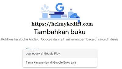 Upload buku pertama ke google play book1