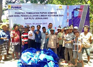 PT Indonesia Power UJP PLTU Jeranjang Kelola Kelompok Binaan Ternak Sapi Berupa Pembuatan Pupuk Kompos