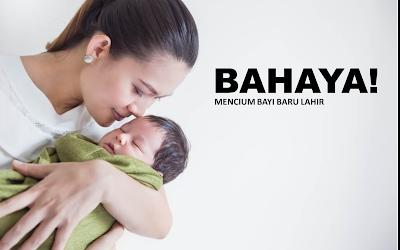 Inilah Bahaya Mencium Bayi Baru Lahir
