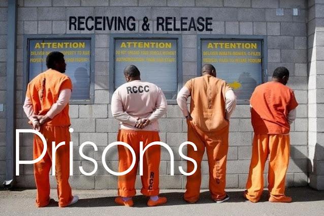 Some prisoners wearing sagging pants