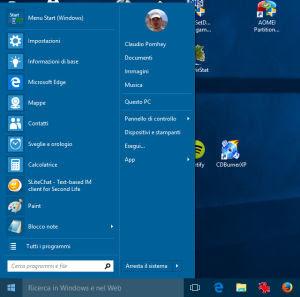 Riporta il menu Start di Windows 7 in Windows 10 con Classic
