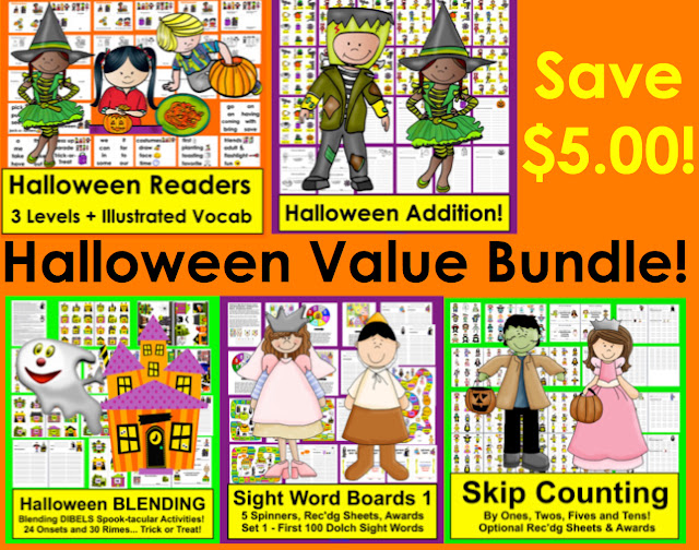 https://www.teacherspayteachers.com/Product/Halloween-Activities-BundleReaders-Sight-Words-Adding-Blending-SkipCounting-1439230