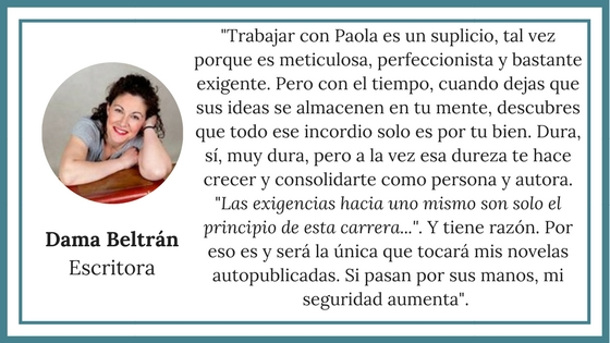 Dama Beltrán, autora de novela romántica