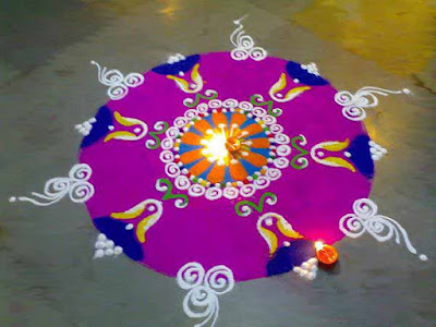 Best Rangoli Designs for Diwali 2018 for office