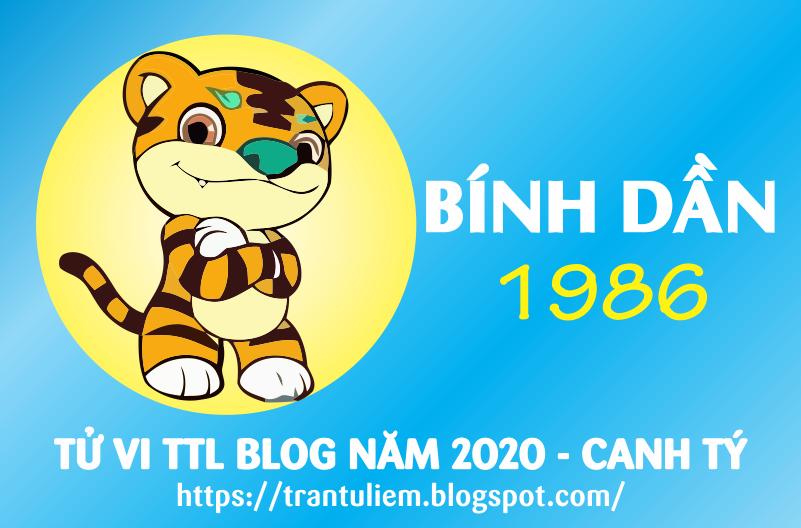 TỬ VI TUỔI BÍNH DầN 1986 NĂM 2020