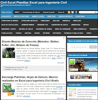 Civil Excel Planillas Excel de ingeniería civil gratis