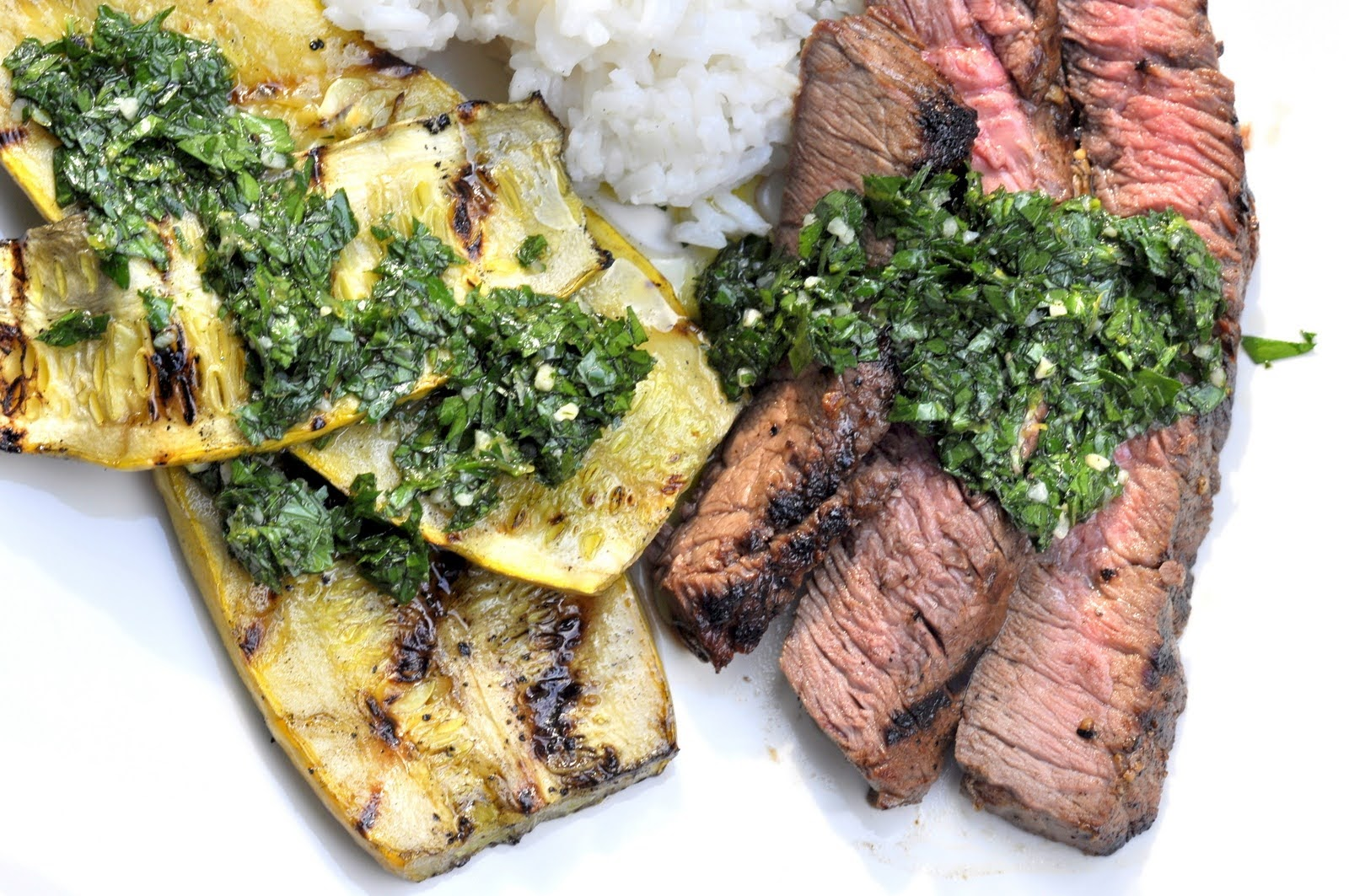 Grilled Steak and Squash with Gremolata Sauce | Taste As You Go