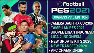 Download PES JOGRESS V3.5 Special Shopee Liga 1 & AFC Championship New Update