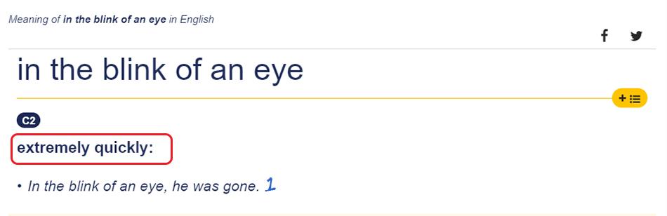 Penjelasan In a Blink of an Eye