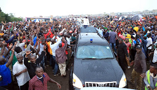 Raila in Western, Kakamega. PHOTO | Courtesy