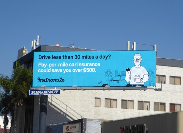 Metromile insurance billboard