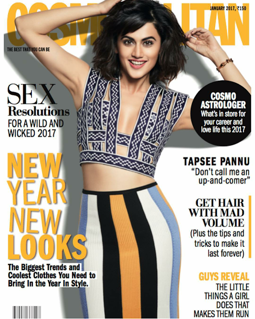 Taapsee Pannu On January Cosmopolitan Cover 2017