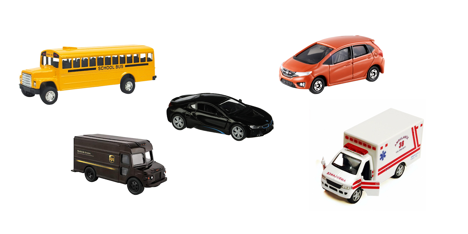 Montessori friendly model car examples - what to look for, and how to use them.