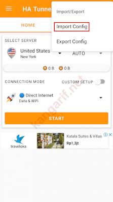 klik import config