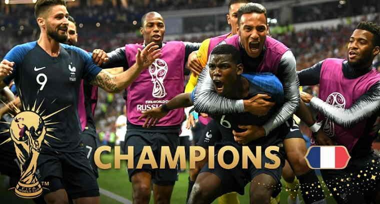 Hasil Perancis vs Kroasia Skor AKhir 4-2 (Final World Cup 2018)