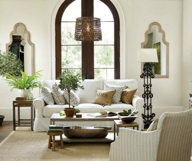Salas blancas decoradas con plantas colores en casa for Oficinas decoradas con plantas